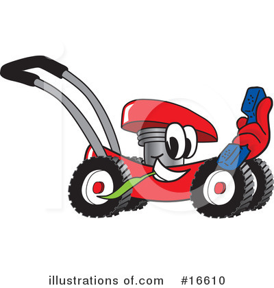Lawn Mower Clipart #16610 by Toons4Biz