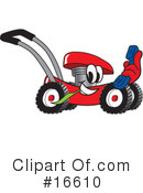 Royalty-Free (RF) lawn mower Clipart Illustration #16610