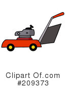 Royalty-Free (RF) lawn mower Clipart Illustration #209373