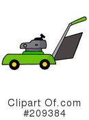 Royalty-Free (RF) lawn mower Clipart Illustration #209384