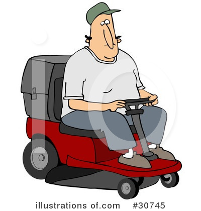 Lawn Mower Clipart #30745 by djart