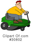 Royalty-Free (RF) lawn mower Clipart Illustration #30802