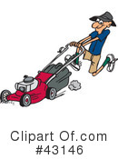 Lawn Mower Clipart #43146 by Dennis Holmes Designs