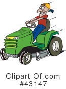 Lawn Mower Clipart #43147 by Dennis Holmes Designs