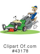 Lawn Mower Clipart #43178 by Dennis Holmes Designs