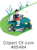 Royalty-Free (RF) lawn mower Clipart Illustration #65484