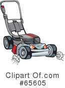 Lawn Mower Clipart #65605 by Dennis Holmes Designs