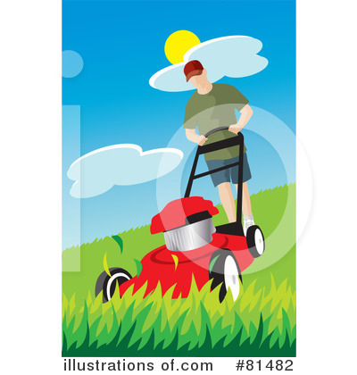 Lawn Mower Clipart #81482 by Rosie Piter