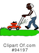 Lawn Mowing Clipart #94197 by Pams Clipart