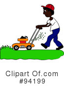 Lawn Mowing Clipart #94199 by Pams Clipart