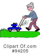 Royalty-Free (RF) lawn mowing Clipart Illustration #94205