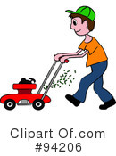 Lawn Mowing Clipart #94206 by Pams Clipart