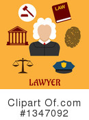 Royalty-Free (RF) Lawyer Clipart Illustration #1347092