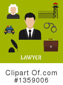 Royalty-Free (RF) Lawyer Clipart Illustration #1359006