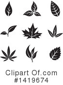 Royalty-Free (RF) Leaf Clipart Illustration #1419674