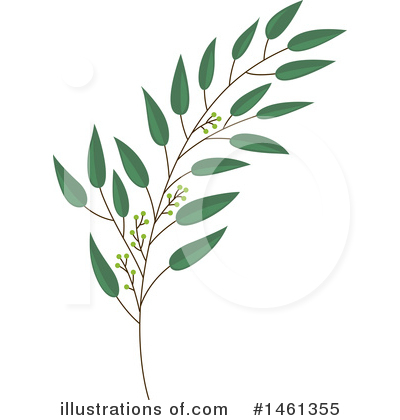 Leaf Clipart #1461355 by Cherie Reve