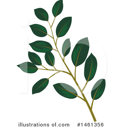 Leaf Clipart #1461356 by Cherie Reve