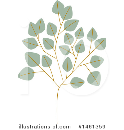 Leaf Clipart #1461359 by Cherie Reve