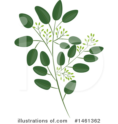 Leaf Clipart #1461362 by Cherie Reve