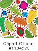 Royalty-Free (RF) leaves Clipart Illustration #1104573
