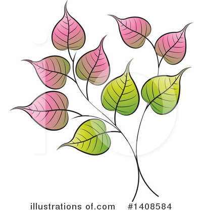 Leaves Clipart #1408584 by Lal Perera