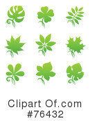 Royalty-Free (RF) Leaves Clipart Illustration #76432