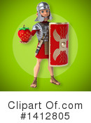 Legionary Soldier Clipart #1412805 by Julos