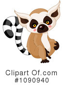 Royalty-Free (RF) Lemur Clipart Illustration #1090940
