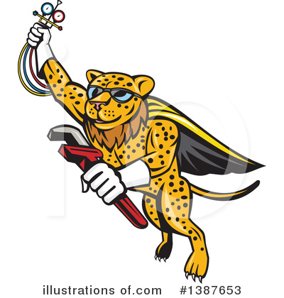 Royalty-Free (RF) Leopard Clipart Illustration by patrimonio - Stock Sample #1387653