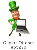 Royalty-Free (RF) Leprechaun Character Clipart Illustration #55293