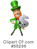 Royalty-Free (RF) Leprechaun Character Clipart Illustration #55296