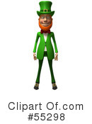Royalty-Free (RF) Leprechaun Character Clipart Illustration #55298