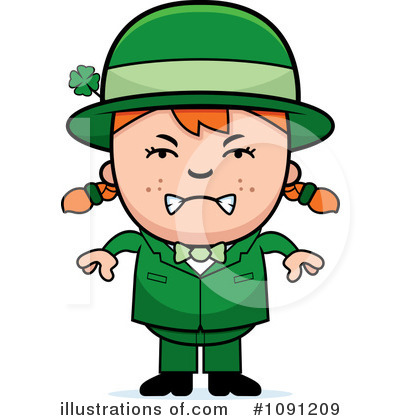 Leprechaun Clipart #1091209 - Illustration by Cory Thoman