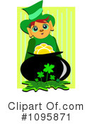 Royalty-Free (RF) Leprechaun Clipart Illustration #1095871