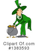 Royalty-Free (RF) Leprechaun Clipart Illustration #1383593