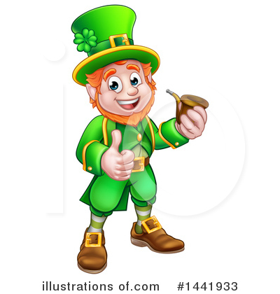 Leprechaun Clipart #1441933 by AtStockIllustration