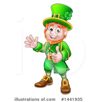 Leprechaun Clipart #1441935 by AtStockIllustration
