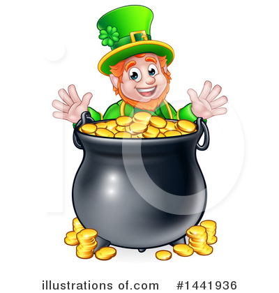 Leprechaun Clipart #1441936 by AtStockIllustration
