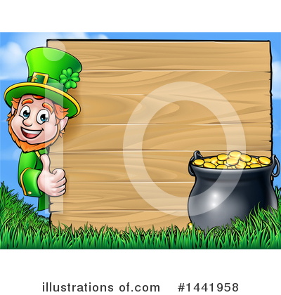 Leprechaun Clipart #1441958 by AtStockIllustration