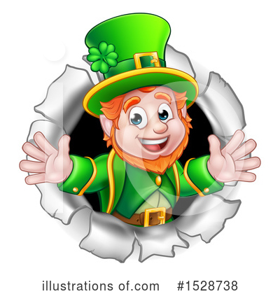 Leprechaun Clipart #1528738 by AtStockIllustration