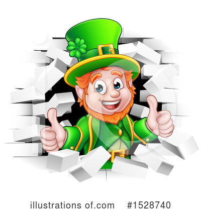 Leprechaun Clipart #1528740 by AtStockIllustration