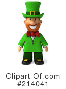 Royalty-Free (RF) Leprechaun Clipart Illustration #214041