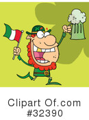 Royalty-Free (RF) Leprechaun Clipart Illustration #32390