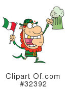 Royalty-Free (RF) leprechaun Clipart Illustration #32392