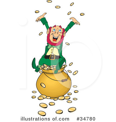 Royalty-Free (RF) Leprechaun Clipart Illustration by Dennis Holmes Designs - Stock Sample #34780