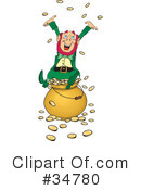 Royalty-Free (RF) Leprechaun Clipart Illustration #34780