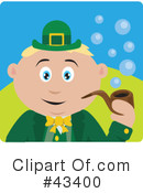 Royalty-Free (RF) Leprechaun Clipart Illustration #43400