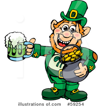 Leprechaun Clipart #59254 by Dennis Holmes Designs