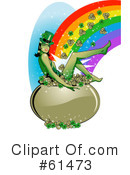 Royalty-Free (RF) Leprechaun Clipart Illustration #61473