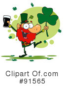 Royalty-Free (RF) leprechaun Clipart Illustration #91565